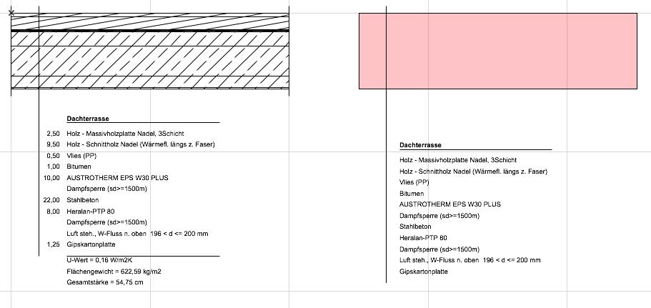 ArchiPHYSIK Bauteil Aufbauten eingesetzt in ArchiCAD