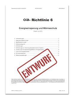 Deckblatt OIB Richtlinie  6 Entwurf Juni 2014