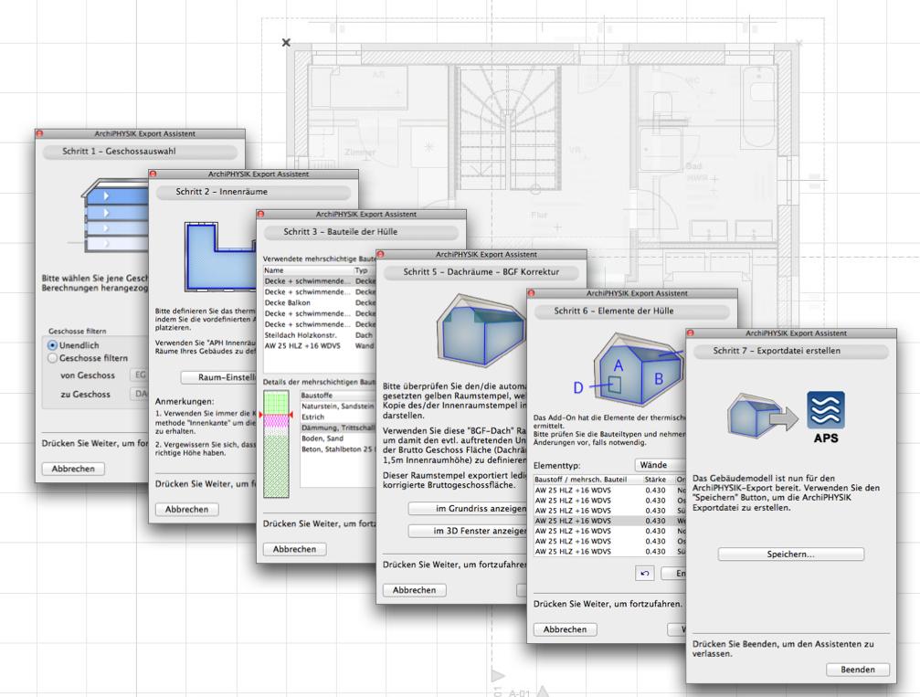 ArchiCAD Schnittstelle v5 – Kurzanleitung