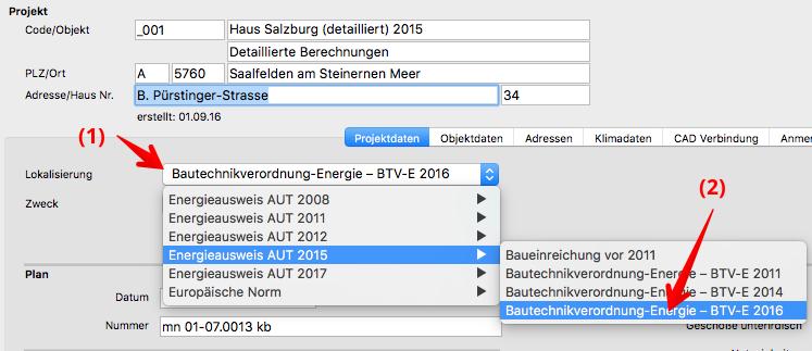 Salzburger Bautechnikverordnung 2016 (BTV 2016)  berechnen mit ArchiPHYSIK