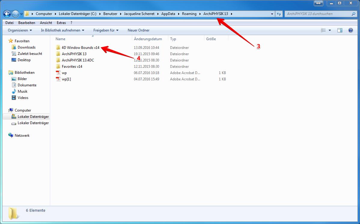 ArchiPHYSIK Programm Verzeichnis Windows 4D Window Bounds