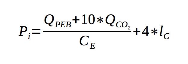 Formel Primärenergieindikator (Pi-Wert) für Salzburg Energieausweis ab 2016