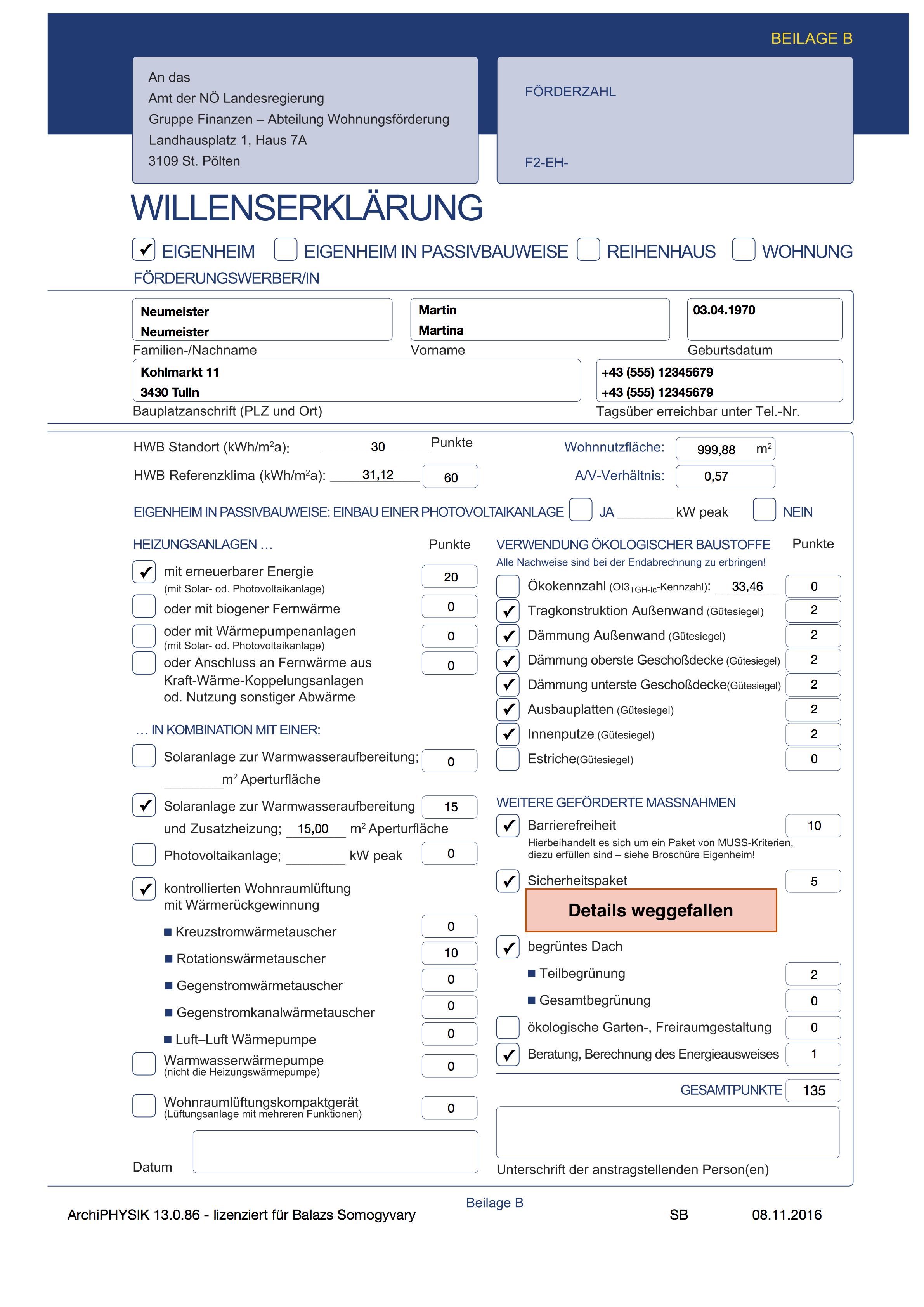 WBF Nö 2016 Änderung der Wohnbauförderungsrichtlinien Willenserklärung 2016 Eigenheim Reihenhaus Wohnung