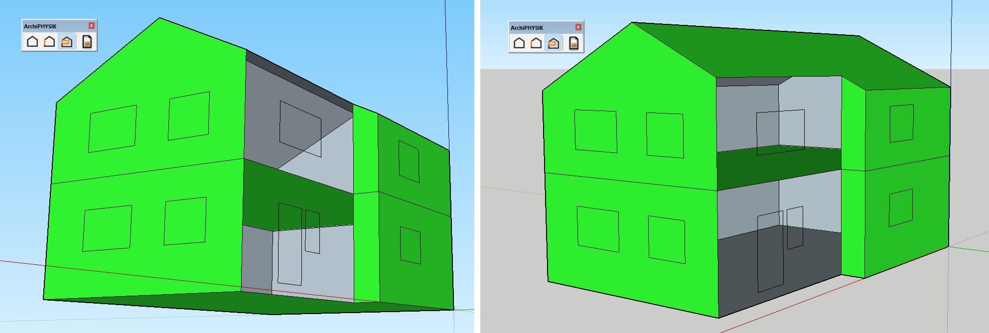 Ermittlung thermisches Volumen Energieausweis mit SketchUp und ArchiPHYSIK