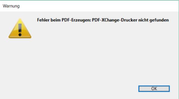 Fehler PDF erstellen