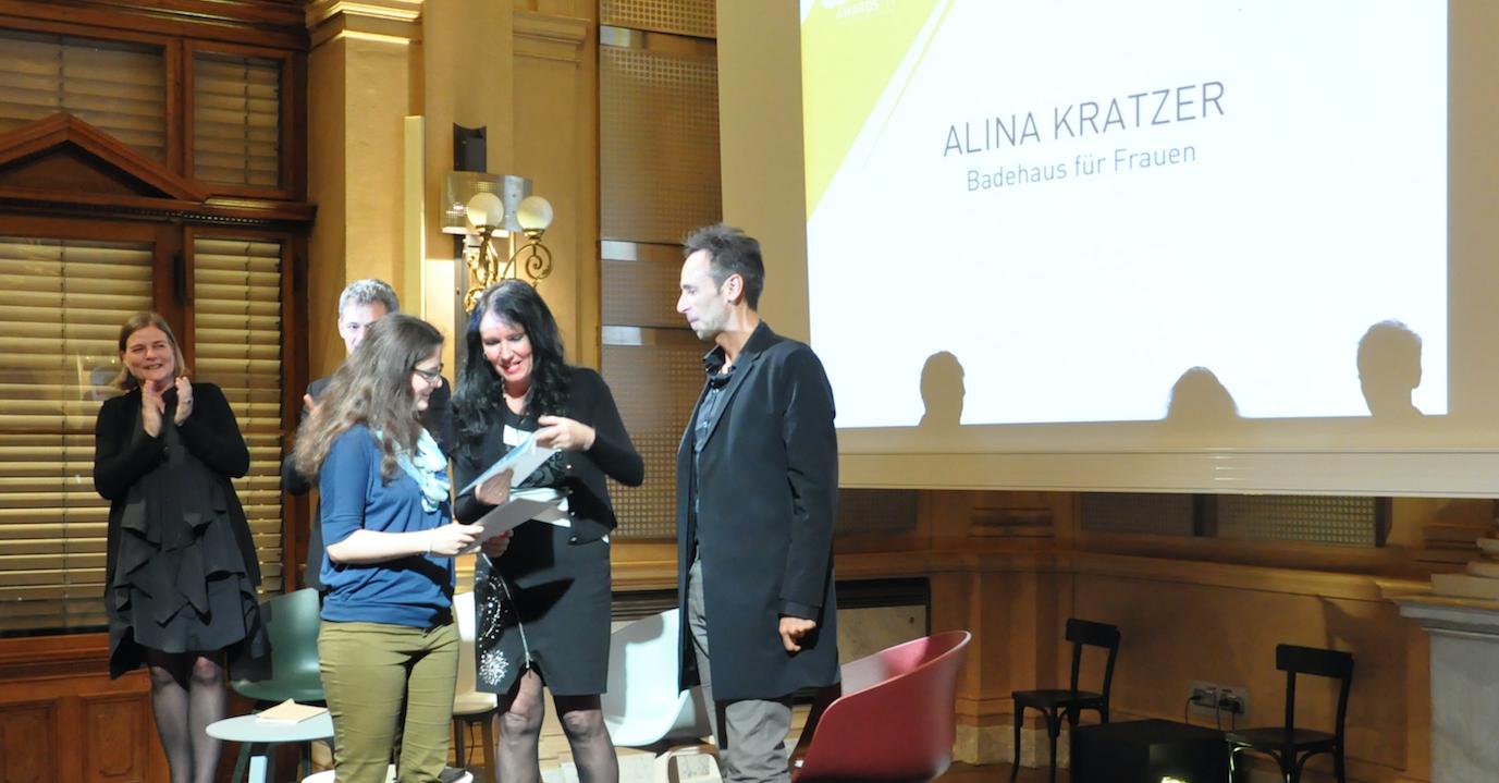GAD Awards 2017 Preisträgerin Alina Kratzer TU Graz für das Projekt Ein Badehaus für Frauen
