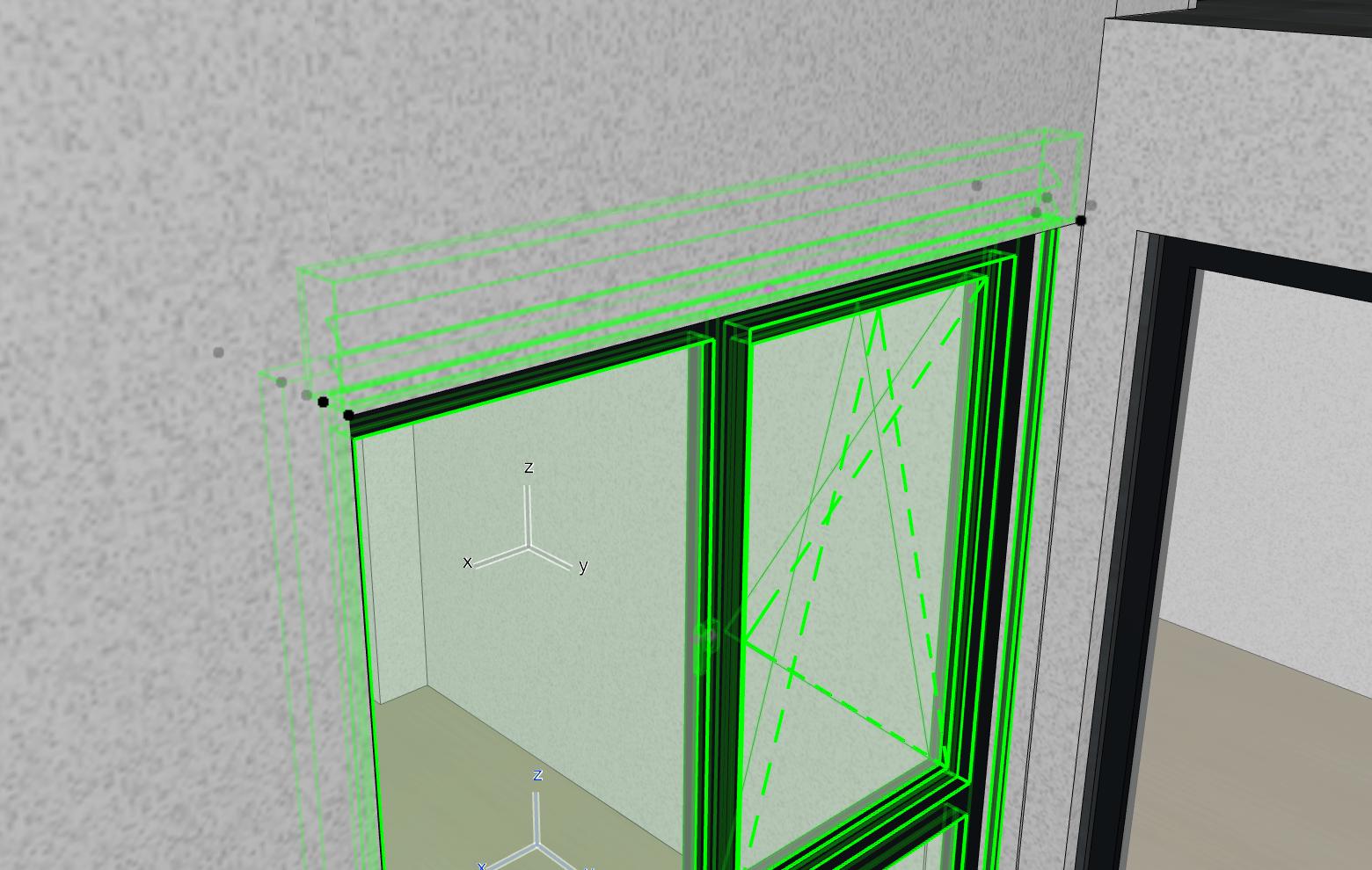 Fenstergeometrie-Wandebene