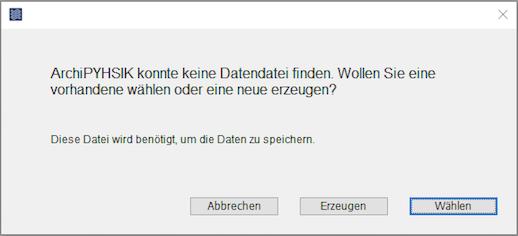 Windows Start - Datendatei Erzeugen