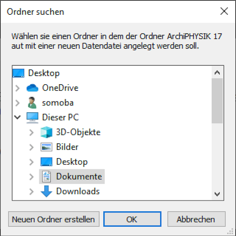 Windows Start - Datendatei Pfad Wählen