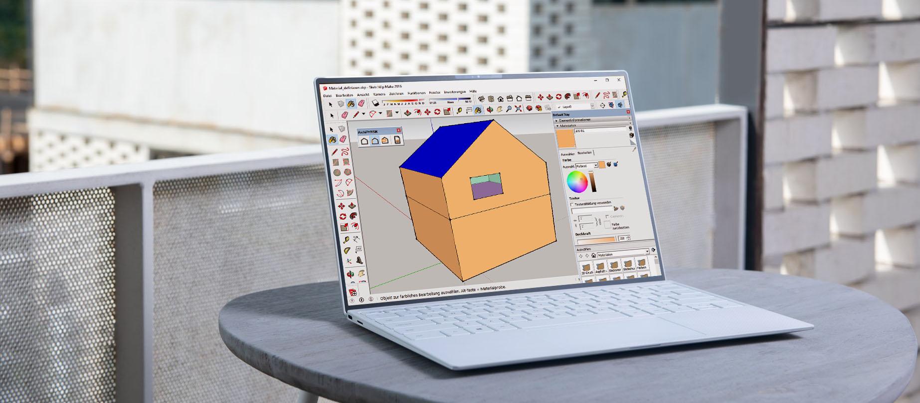 Eigene Bauteilfarben für 3D Modelle im SketchUp® Add-On erstellen